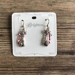 Brighton Jewelry - Brighton Candy Cane Cat Earrings